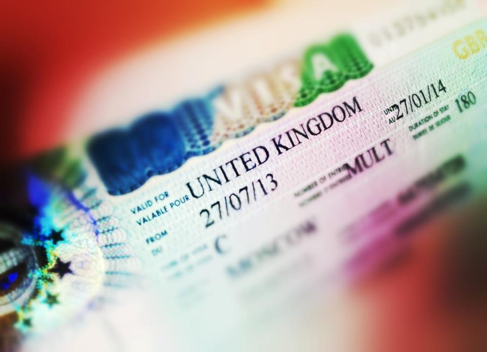 Виза в Англию в 2019 году